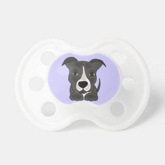 Cute Grey Pitbull Puppy Dog Pacifier