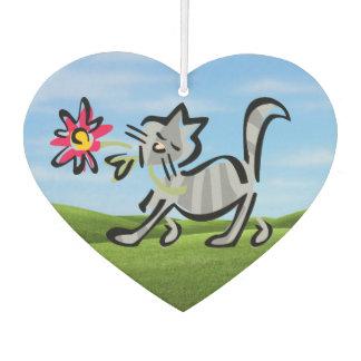 Cute Grey Tabby Cat Air Freshener