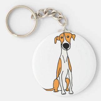 Cute Greyhound Dog Cartoon Original Keychain