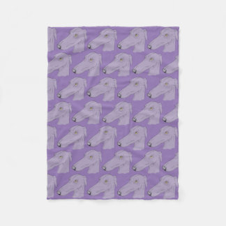 Cute greyhound pattern fleece blanket