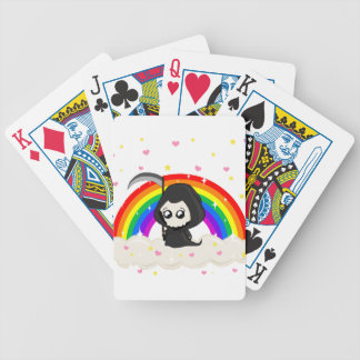 Cute Grim Reaper Bicycle Playing Cards