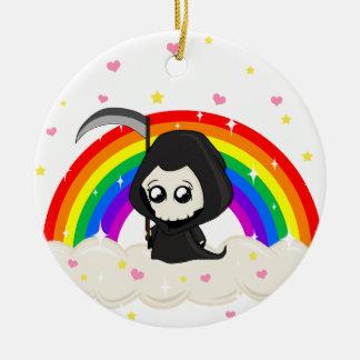 Cute Grim Reaper Ceramic Ornament