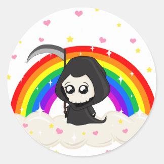 Cute Grim Reaper Classic Round Sticker