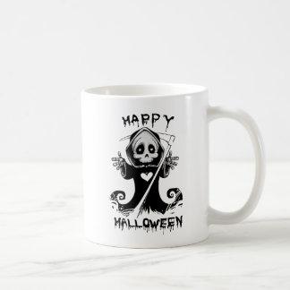 Cute grim reaper halloween coffee mug
