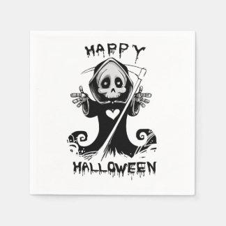 Cute grim reaper halloween paper napkin