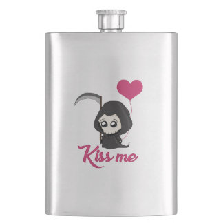 Cute Grim Reaper Hip Flask