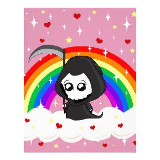 Cute Grim Reaper Letterhead