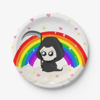 Cute Grim Reaper Paper Plate