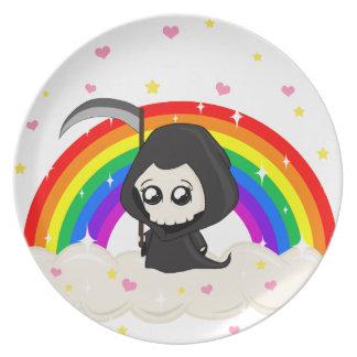 Cute Grim Reaper Plate
