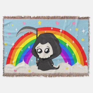 Cute Grim Reaper Throw Blanket