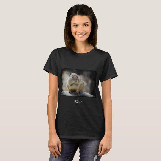 Cute Ground Squirrel Black Border T-Shirt