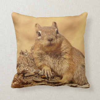 Cute Ground Squirrel Throw Pillow