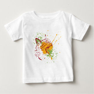 Cute Grunge Cat Portrait 2 Baby T-Shirt