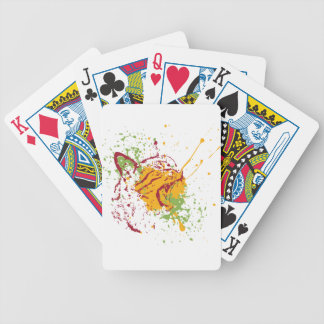 Cute Grunge Cat Portrait 2 Bicycle Playing Cards