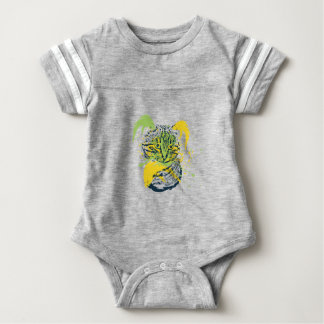 Cute Grunge Cat Portrait Baby Bodysuit