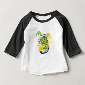 Cute Grunge Cat Portrait Baby T-Shirt