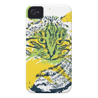 Cute Grunge Cat Portrait Case-Mate iPhone 4 Cases