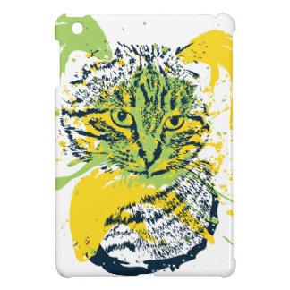 Cute Grunge Cat Portrait iPad Mini Case
