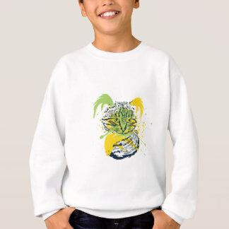 Cute Grunge Cat Portrait Sweatshirt