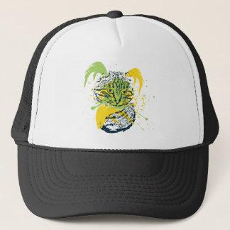 Cute Grunge Cat Portrait Trucker Hat