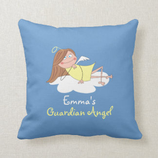 Cute Guardian Angel Personalized Kids Pillows