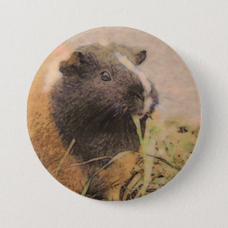 cute Guinea pig 3 Inch Round Button