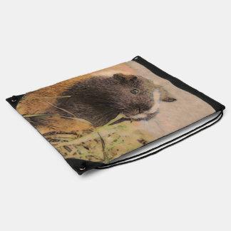 cute Guinea pig Drawstring Bag