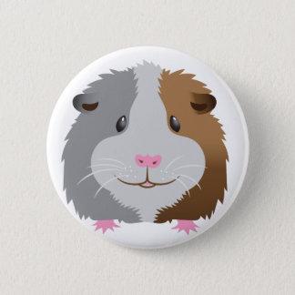 cute guinea pig face 2 inch round button