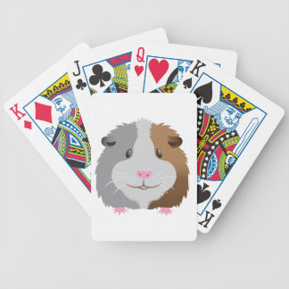 cute guinea pig face bicycle playing cards