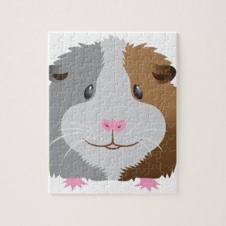 cute guinea pig face jigsaw puzzle