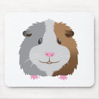 cute guinea pig face mouse pad