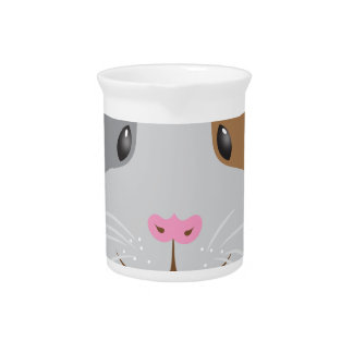 cute guinea pig face pitcher