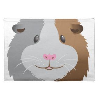 cute guinea pig face placemat