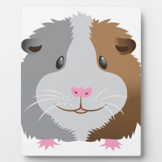 cute guinea pig face plaque