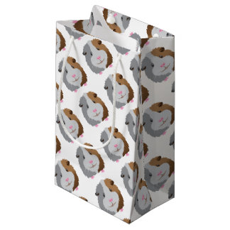 cute guinea pig face small gift bag