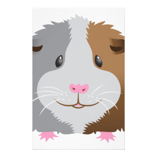 cute guinea pig face stationery