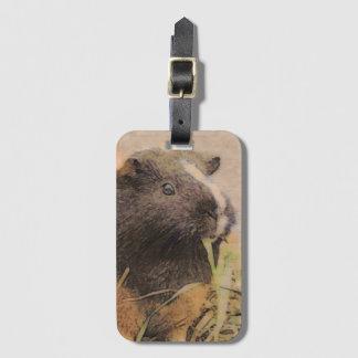cute Guinea pig Luggage Tag