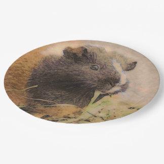 cute Guinea pig Paper Plate