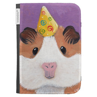 Cute Guinea Pig with a Party Hat Illustration Kindle Covers
