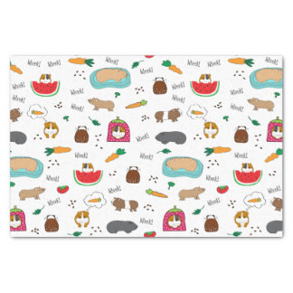 Cute Guinea Pigs Cavy Pets Tissue Paper