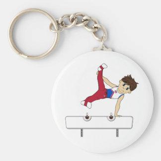 Cute Gymnast on Horse Keychain