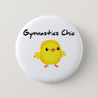 Cute Gymnastics Chic Shirts for Gymnasts 2 Inch Round Button