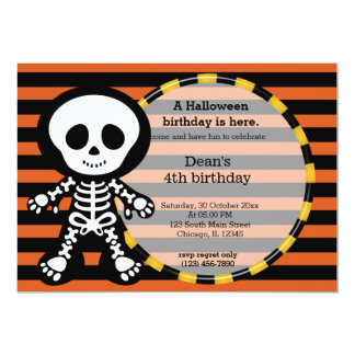 "Cute halloween birthday 5"" x 7"" invitation card"