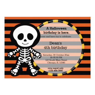Cute halloween birthday invite