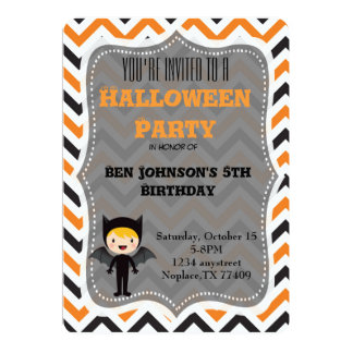 Cute Halloween Birthday Party Invite