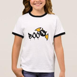 Cute Halloween Boo asked - bat Ringer T-Shirt