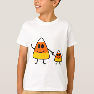 Cute Halloween Candy Corn Family T-Shirt