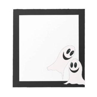 Cute Halloween Cartoon Ghosts Notepad