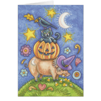 Cute Halloween Cat Cards