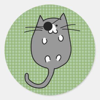 Cute Halloween Cat Costume Round Sticker